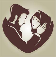 Muslim love vector image on VectorStock Cute Couple Cartoon, Anime Love Couple, Couple Art, Romantic Couples, Cute Couples, Free Vector Images, Vector Art, Divas, Couple Illustration