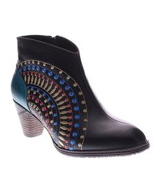 Look at this L'Artiste by Spring Step Black Rhapsody Leather Bootie on #zulily today!