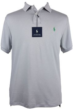 NEW Polo Ralph Lauren Mens Shirt Size S M L XL Classic Fit Short Sleeve Gray NWT #PoloRalphLauren #PoloRugby $53