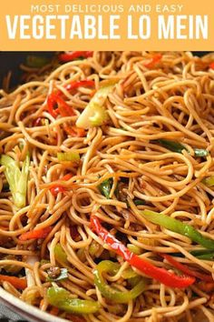 Best and easy authentic chinese vegetable lo mein recipe. Fix your dinner or lunch under 30 mins with this healthy noodle stir fry with cabbage and more veggies and best lo mein sauce to make this delicious chinese food menu item. Chinese Food Menu, Chinese Chicken Recipes, Asian Recipes, Beef Recipes, Cooking Recipes, Chinese Noodle Recipes, Chinese Desserts, Asian Chicken, Healthy Chinese Recipes
