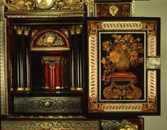 Cabinet on Stand (detail: interior of central panel), French, Paris, about 1675–80, attributed to André-Charles Boulle