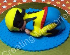 Superhero Baby Cake Topper/Ready to be the center of attention on your cake. For Baby Shower, Birthdays Celebration