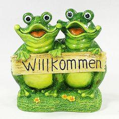 Vogtland souvenirs xxl keramik frosch auf stein for Whirlpool garten mit pflanzkübel xxl keramik