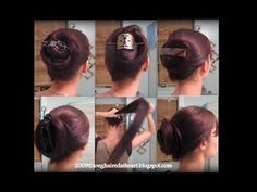 Easy hairstyles.  Why use an ugly plastic claw to put up your hair? - YouTube