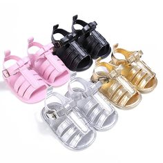 0-18 Months Plain PU Leather Baby Moccasins Child Summer Girl Boy Sandals Crib Shoes Anti Slip #Affiliate