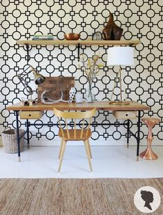 Geometric Pattern Self Adhesive Removable Wallpaper by Livettes