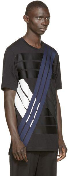 Y-3 Black Multistripe T-Shirt
