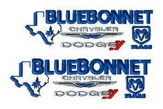 Bluebonnet Auto logo -2 sizes- custom embroidery design for DH - custom logo by LLHembroidery on Etsy