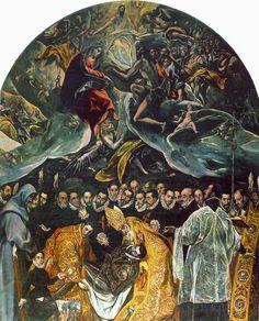 El entierro del conde Orgaz, El Greco. 1588.