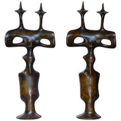 Pair of Candleholders by Victor Roman | Available at Regis Royant Gallery