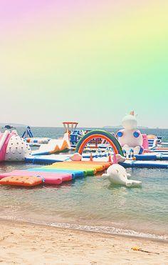 Inflatable Island, l'incroyable île dédiée aux licornes où on veut passer nos vacances