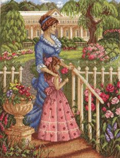 Cross stitch kit In the blooming garden PANNA set counted cross stitch kit for needlework #GiftForEmbroidery #EmbroideryGarden #PannaEmbroidery #EmbroideryPattern #EmbroideryKids #EmbroideryKit #EmbroideryPeople #HandicraftKit #DiyKit #Canvas