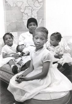 A Brown Mother. Soror Betty Shabazz, wife of Malcolm X, with their daughters. Black History Facts, Black History Month, My Black Is Beautiful, Black Love, Beautiful Family, Betty Shabazz, Kings & Queens, Divas, By Any Means Necessary