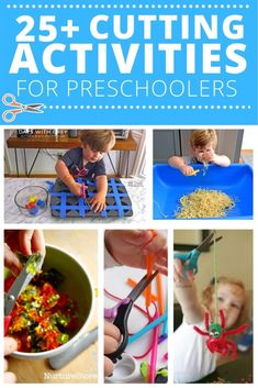 Learning Games For Preschoolers, Toddler Learning, Preschool Learning, Preschool Activities, Motor Activities, Preschool Tables, Preschool Printables, Cutting Activities, Busy Boxes
