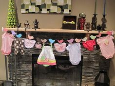 clothes on the line... simple baby shower decor
