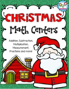 Christmas Math Centers 3rd-5th Grades! from Create abilities on TeachersNotebook.com -  (39 pages)  - Christmas Math Centers 3rd-5th grade!