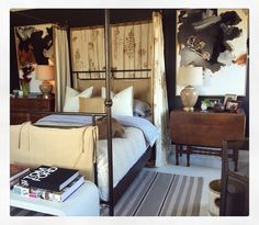 Black and caramel bedroom. By William McLure