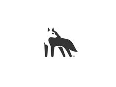 Wolf Logo Negative Space