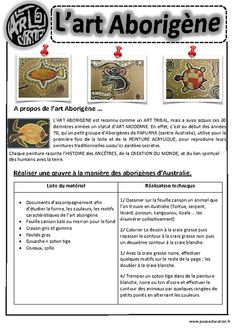 Art Aborigène – Ce1 - Ce2 – Cm1 – Cm2 – Arts visuels – Cycle 3 - Pass Education