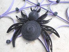 Spider web muur opknoping Halloween home door GeorgianaArtAndStyle