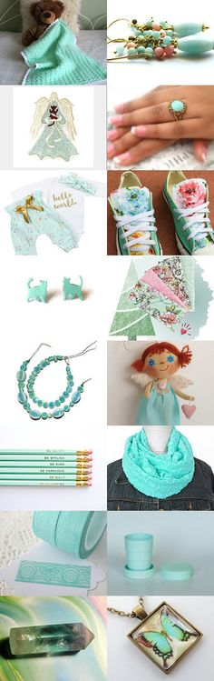 My World in Mint by Nancy on Etsy--Pinned with TreasuryPin.com