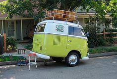Vw bus trailer. So cute!