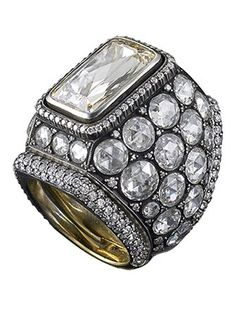 Trendy Diamond Rings :    Contemporary Heritage ring, rose cut diamonds and yellow gold by Gilan  - #Rings https://youfashion.net/wedding/rings/diamond-rings-contemporary-heritage-ring-rose-cut-diamonds-and-yellow-gold-by-gilan/