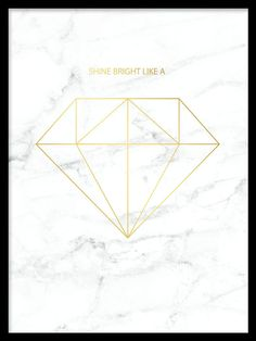 Mooie grafische poster met diamant in goud op marmer Beautiful graphic poster with diamond in gold on marble Trendy Wallpaper, Home Wallpaper, Bild Gold, Tapete Gold, Wallpapers Tumblr, Mode Poster, Country Wall Art, Gold Marble, White Marble