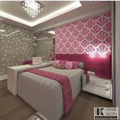 Fechando a noite em grande estilo! Que quarto mais maravilhoso é esse? to chorosa! Autoria de Daniel Kroth   @decoreinteriores
