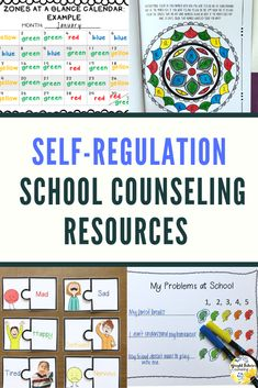 Self-regulation activities for kids. Everything you need to implement a full self-regulation curriculum including self-regulation group, zones of regulation activities and guidance lessons. Elementary School Counselor, School Counseling, Elementary Schools, Coping Skills, Social Skills, Social Work, Response To Intervention, Character Education, Physical Education
