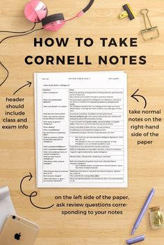 to Take Cornell Notes (Plus a Free Worksheet Pack A quick guide to Cornell Notes! Pin to save for later, and click through to read on College Compass!A quick guide to Cornell Notes! Pin to save for later, and click through to read on College Compass! College Notes, School Notes, College Hacks, Ivy College, Law School, College Nursing, Nursing Schools, College Note Taking, Back To College
