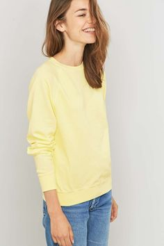 Urban Renewal Vintage Customised Overdyed Yellow Sweatshirt