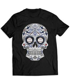 Show love for your team with these awesome dia de los muertos style skull tees! Perfect for game day! | Related Terms: Chicago T-Shirt, Funny Cute Chicago T-Shirt, Gifts for Chicago fan Sugar skull tattoos Sugar-skull-tattoos Compass tattoo Heart tattoos Crown tattoos Dragonfly tattoo Ankle bracelet tattoos Bow tattoos Garter tattoos Rosary tattoos Tattoo ideas Tattoos Sleeve tattoos Ink Tattoo designs Tattoo artists Tattoo T Shirts, Skull Shirts, Sleeve Tattoos, Sugar Skull Tattoos, Sugar Skulls, Game Day Shirts, Fashion Plates, Garter Tattoos, Rosary Tattoos