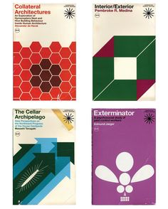 """These covers are from my ongoing (starting in 2011) series of faux books, records and posters (entitled """"Volumes from an Imagined Intellectual History of Animals, Architecture & Man""""). I modeled Harrington Science Editions after Rudolph de Harak's covers for McGraw-Hill. The books are meant to be the reading, listening and viewing materials of the fictional investigator at the center of the project. The items all connect in some way to the intersection of animals and architecture (often…"""