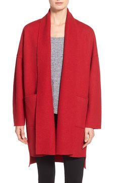 Eileen Fisher Boiled Wool Kimono Coat (Regular & Petite)   Nordstrom