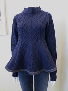 Using a 2nd sweater to make gores is great but I'm going to make the gores longer for uneven hemline.