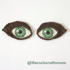Ravelry: Crochet EYES and BOOKMARK pattern by Christa Veenstra