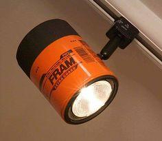 Fram oil filter track lighting for the ultimate gear head