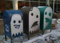 Pac-Man Snow Ghosts