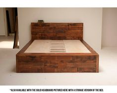 On the off chance that you are considering upgrading your insides and make space for some new furniture, it could be a great opportunity to rethink your choices for wood bed frame furniture also. Best Wood For Furniture, Reclaimed Wood Furniture, Diy Furniture Projects, Diy Pallet Projects, Bed Furniture, Pallet Furniture, Salvaged Wood, Rustic Wood, Wooden Bed Frames