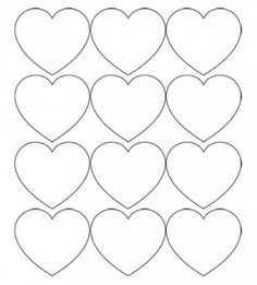 Free Printable Heart Templates – Large, Medium & Small Stencils to Cut Out Free Printable Heart Templates – Large, Medium & Small Stencils for all of your Valentine's Day craft projects! Heart Shapes Template, Printable Heart Template, Shape Templates, Printable Hearts, Free Printables, Valentine Template, Owl Templates, Print Templates, Diy Art Projects