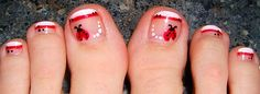 A pedicure? Dreamy. Adding ladybugs? Just too perfect. :)