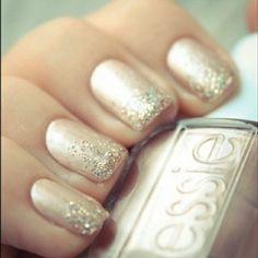 glittery and classy (graduation nails?) (@Kristján Örn Kjartansson, @shelby c,  think jennifer could handle this?!)