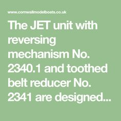 The JET unit with reversing mechanism No. 2340.1 and toothed belt reducer No. 2341 are designed for the Azimut Atlantic Challenger motor boat