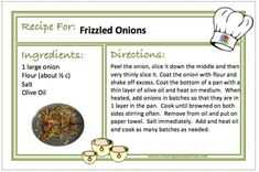 FRIZZLED ONIONS Recipe - CREATING A SIMPLER LIFE