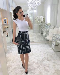 Ideas Womens Business Casual Curvy Work Clothes For 2019 Classy Work Outfits, Business Casual Outfits, Professional Outfits, Sexy Work Outfit, Business Professional, Work Fashion, Fashion Outfits, Pencil Skirt Outfits, Pencil Skirts