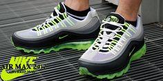 Nike TN/tuned trainers green, black, grey, white (mens)