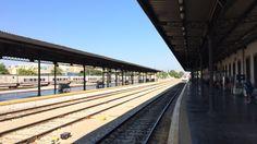 GRANADA | BEIRO | Vistas desde Andén de la Estación de Tren de Granada. Llegada del Tren.
