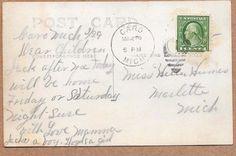 Caro, Michigan, South STATE STREET Stores 1917 Sharp RPPC Postcard