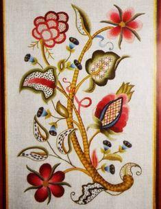 Sturbridge-20-Jacobean-Floral-Rare-Elsa-Williams-Vintage-Crewel-Embroidery-Kit